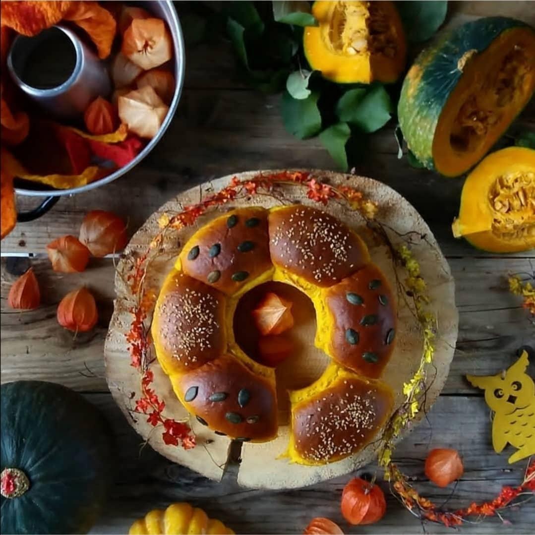 Pan di zucca e foglie